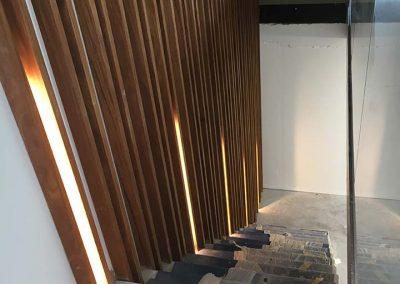 Trapverlichting design hout
